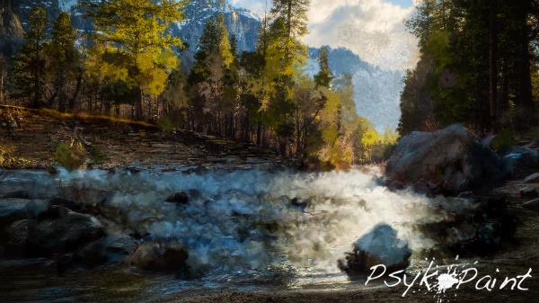 River landscape by AkiraNao