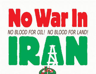 No War in Iran by Persians