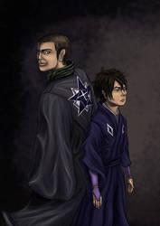 Kekkaishi: Brothers by artzyviolafreak