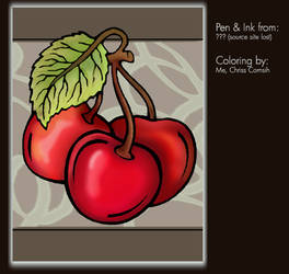 Coloring Project: Cherries by gamehengraphics