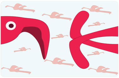 Flight of the Flamingos by gamehengraphics