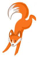 Brush pen fox by Naoru