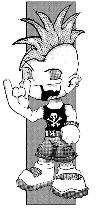 how to look like a punk rocker