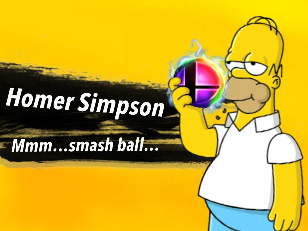 Homer Simpson Confirmed for Smash by TheIransonic