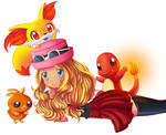 Serena And 3 Fire Starters