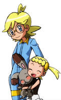 Clemont, Bonnie and Bunnelby