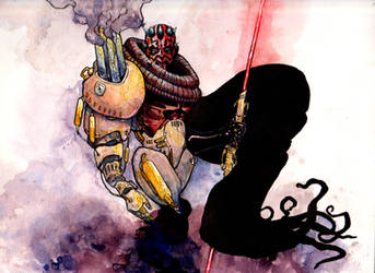 Steampunk Darth Maul by NachoBoyIQ