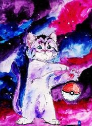 Kitten Mewtwo by NachoBoyIQ