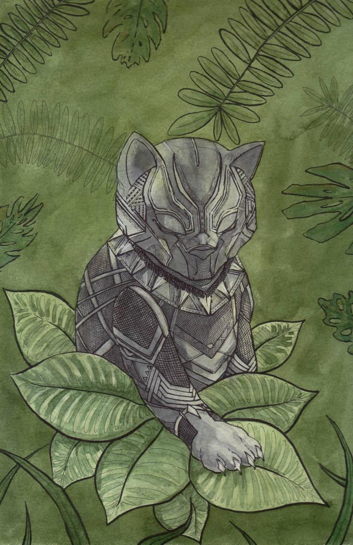 Black Panther Kitty by NachoBoyIQ