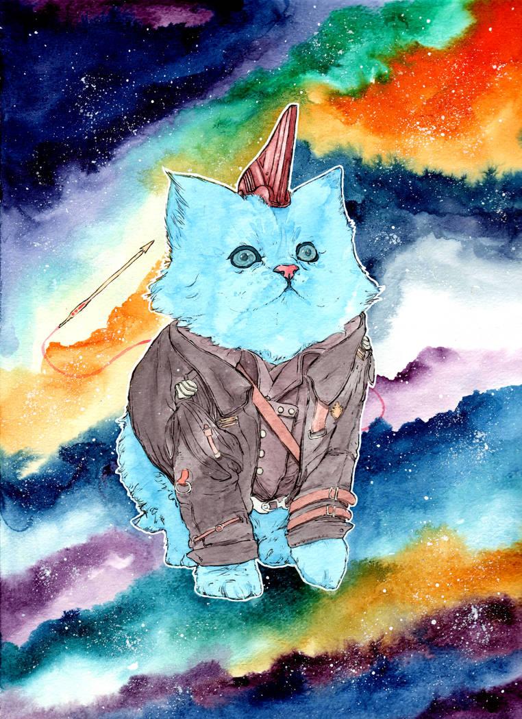 Guardians of the Galaxy Yondu Cat! by NachoBoyIQ