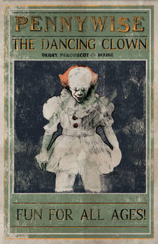 Pennywise the Dancing Clown Circus Poster