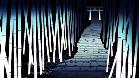 Monogatari Shrine Wallpaper by Dekodere
