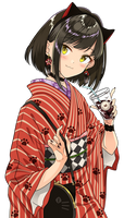 Kimono Cat Girl