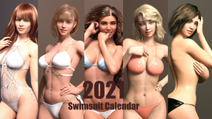 2021 Swimsuit Calendar Promo Art by raystorm41