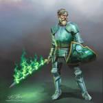 Half-Elf Paladin, Ser Xander Borealis