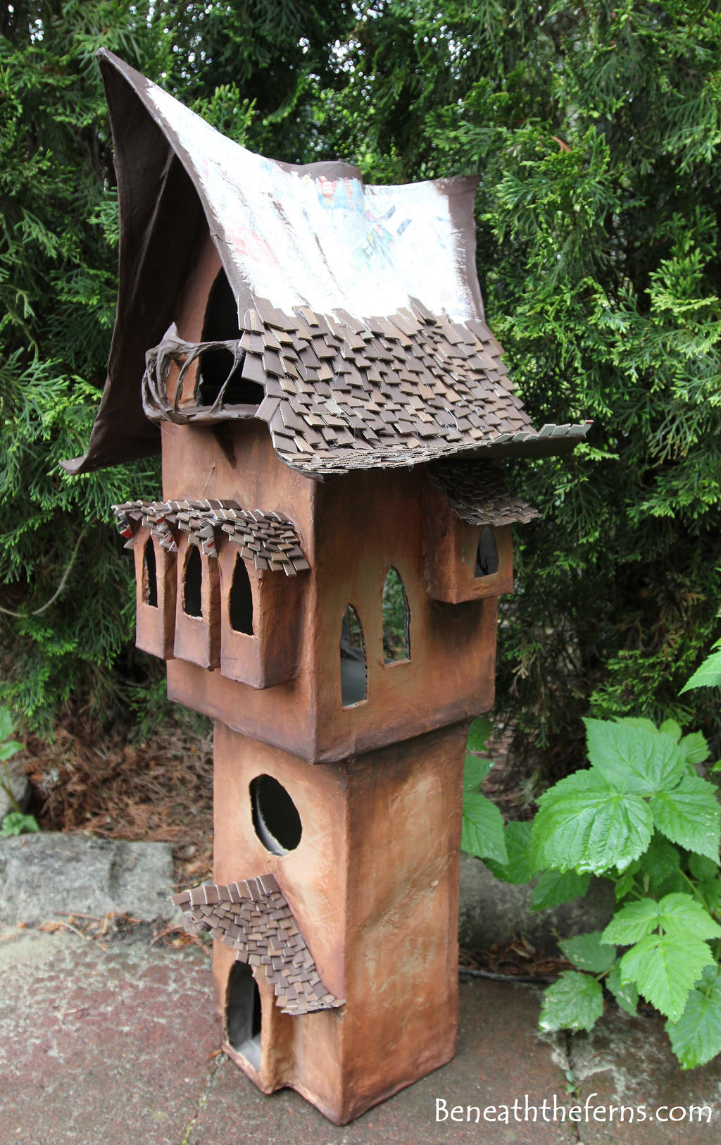 Fairy House Miniature Shake Roof In Progress By