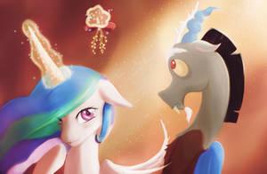 Under the mistletoe by StarBlaze25