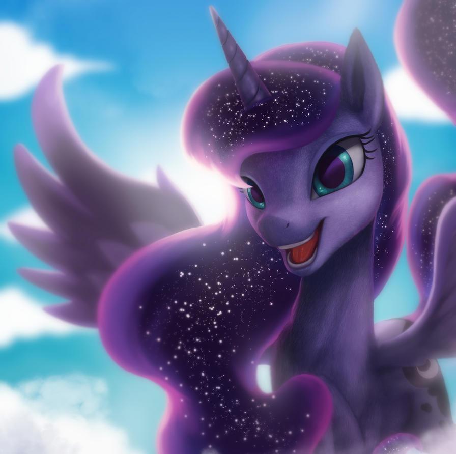Sunny Moon Horse by StarBlaze25