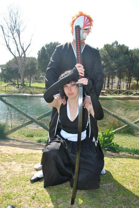 Soi Fon and Ichigo by WhiteCatblueyes