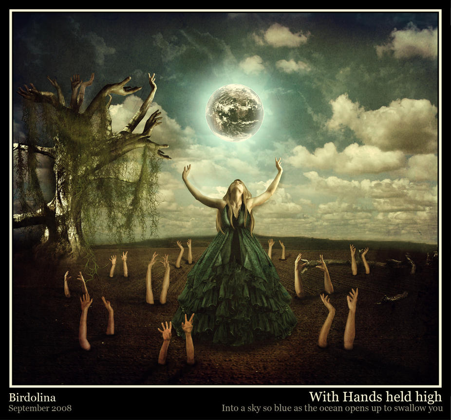 With Hands held high by Birdolina