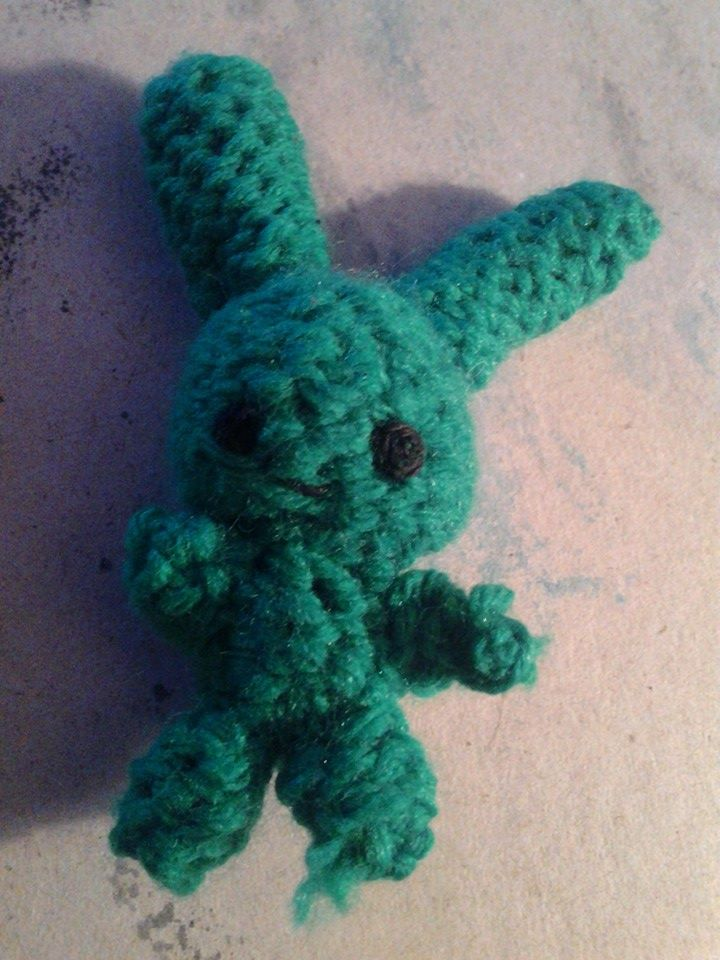 Tiny Green Bunny by PepperParty