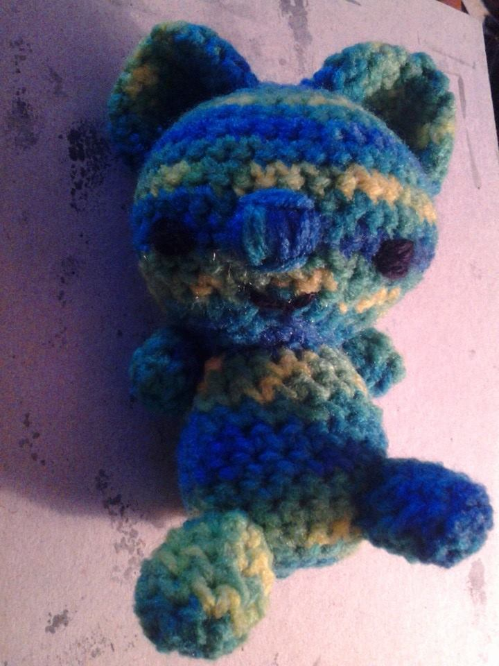 Yellow Green Blue Koala Bear by PepperParty