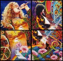 Led Zeppelin - Flower Detail by oazen2008