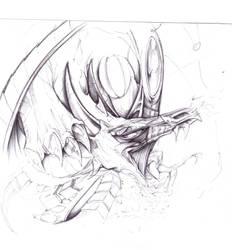dragon sketch by spydax80x