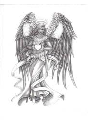 heavenly angel by spydax80x