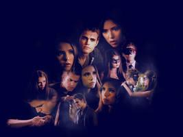 Stefan, Elena, Katherine by minilight1020