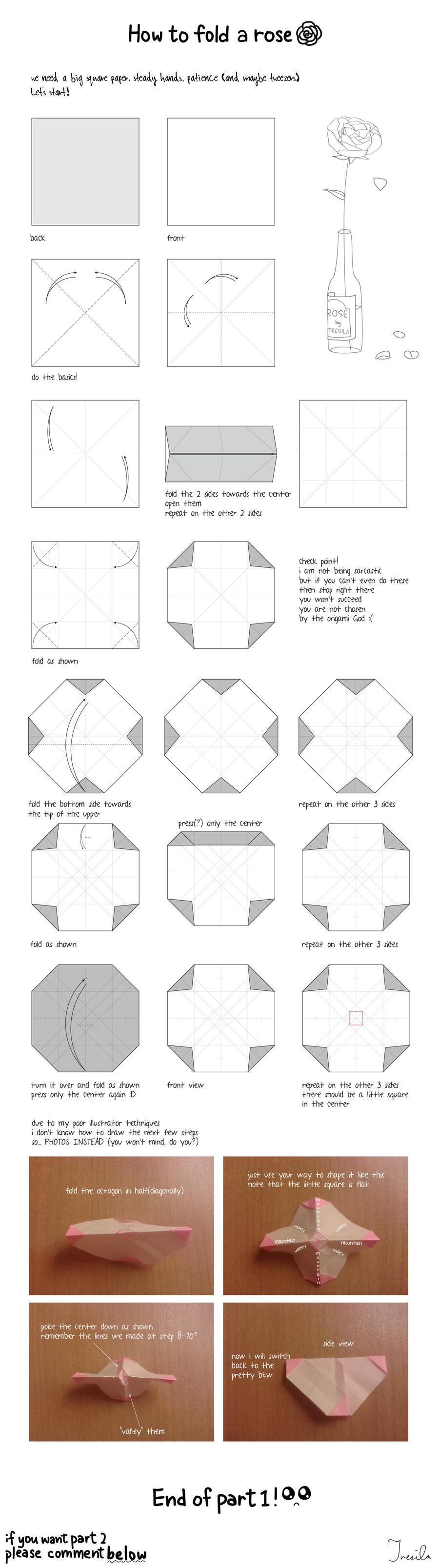 kawasaki rose tutorial part 1 by sandra 1987 on deviantart rh deviantart com new kawasaki rose diagram Origami Kawasaki Rose