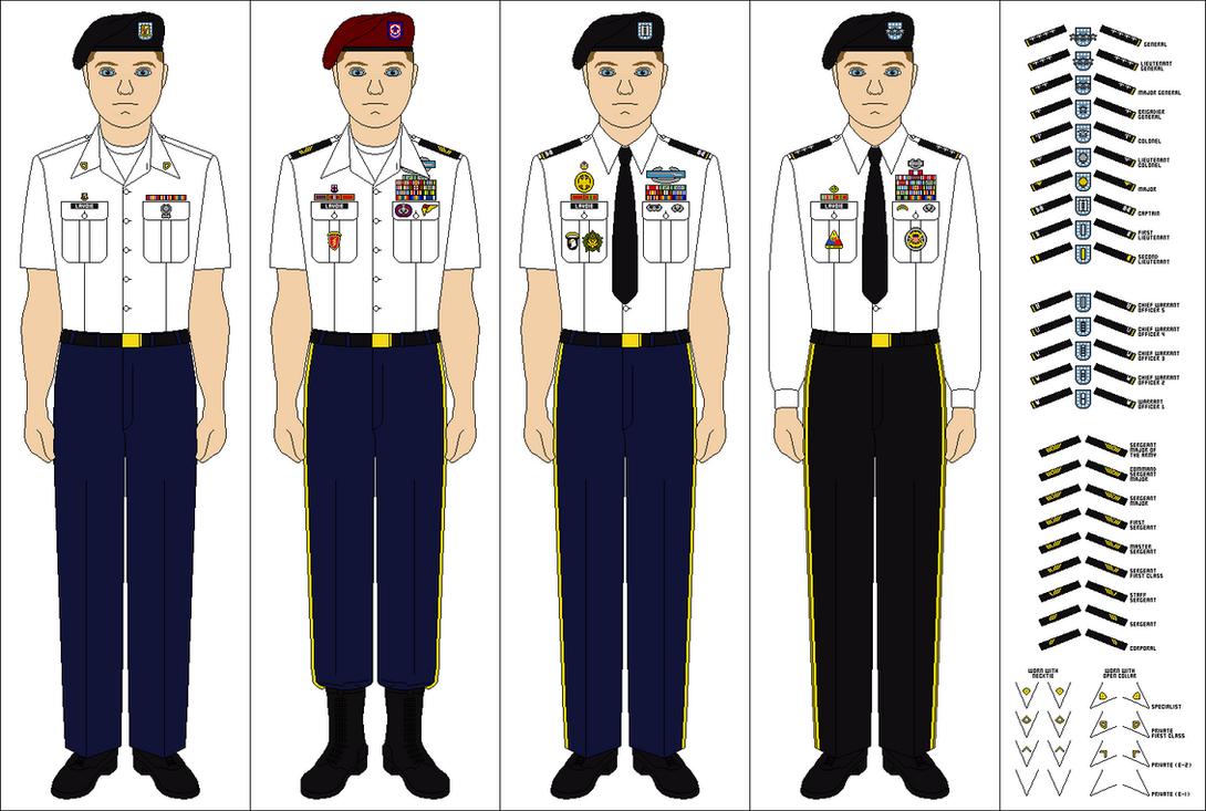 US Army Class B Service Uniform by Tenue-de-canada on ...