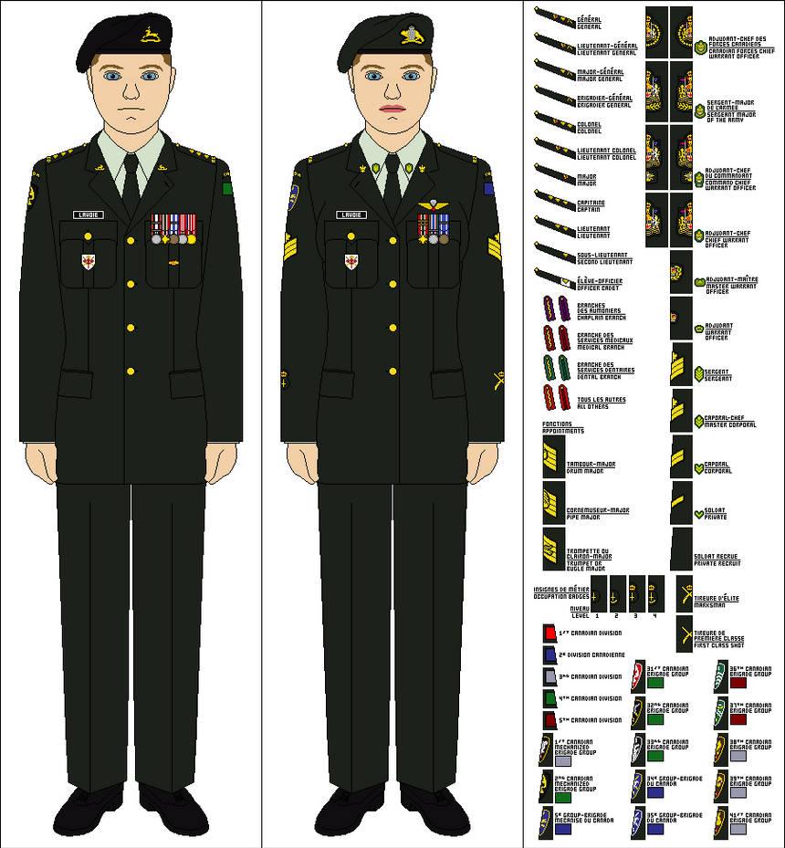 Canadian Army - Uniform base by Tenue-de-canada on DeviantArt