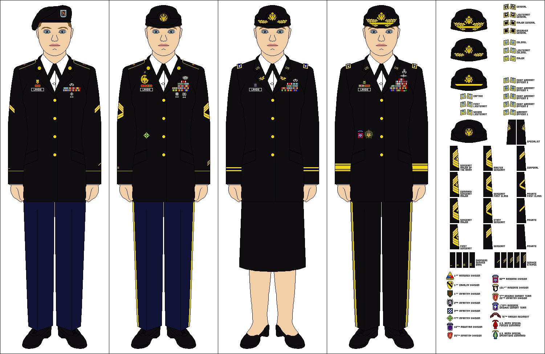 Army Class A Uniform Service Stripes 77