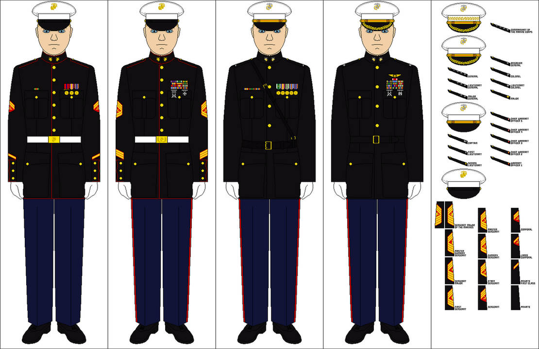 Us Marine Corps Dress Blues By Tenue De Canada On Deviantart