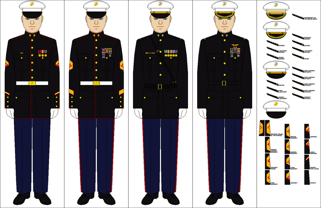 Marine Corps Dress Uniform Regulations 34
