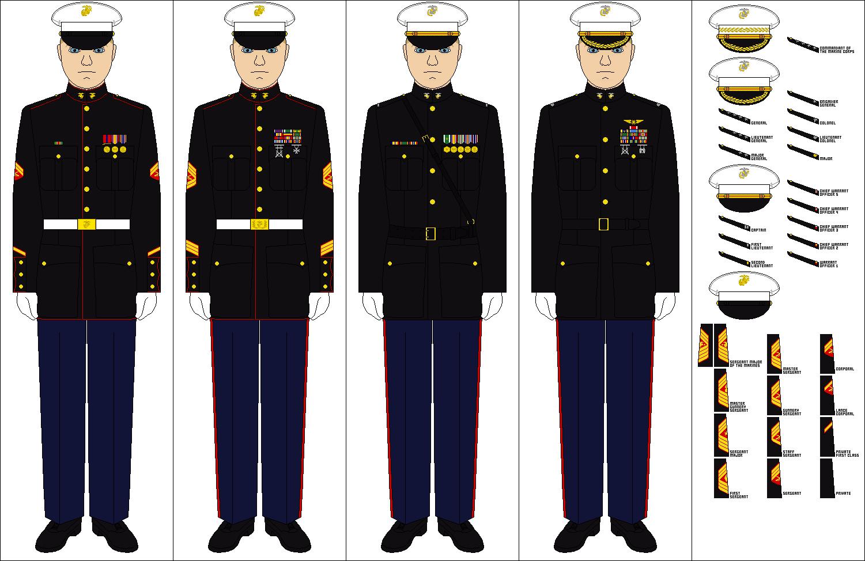 US Marine Corps Dress Blues by Tenue-de-canada on DeviantArt
