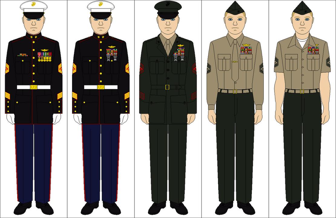 US Marine Corps uniforms by Tenue-de-canada on DeviantArt