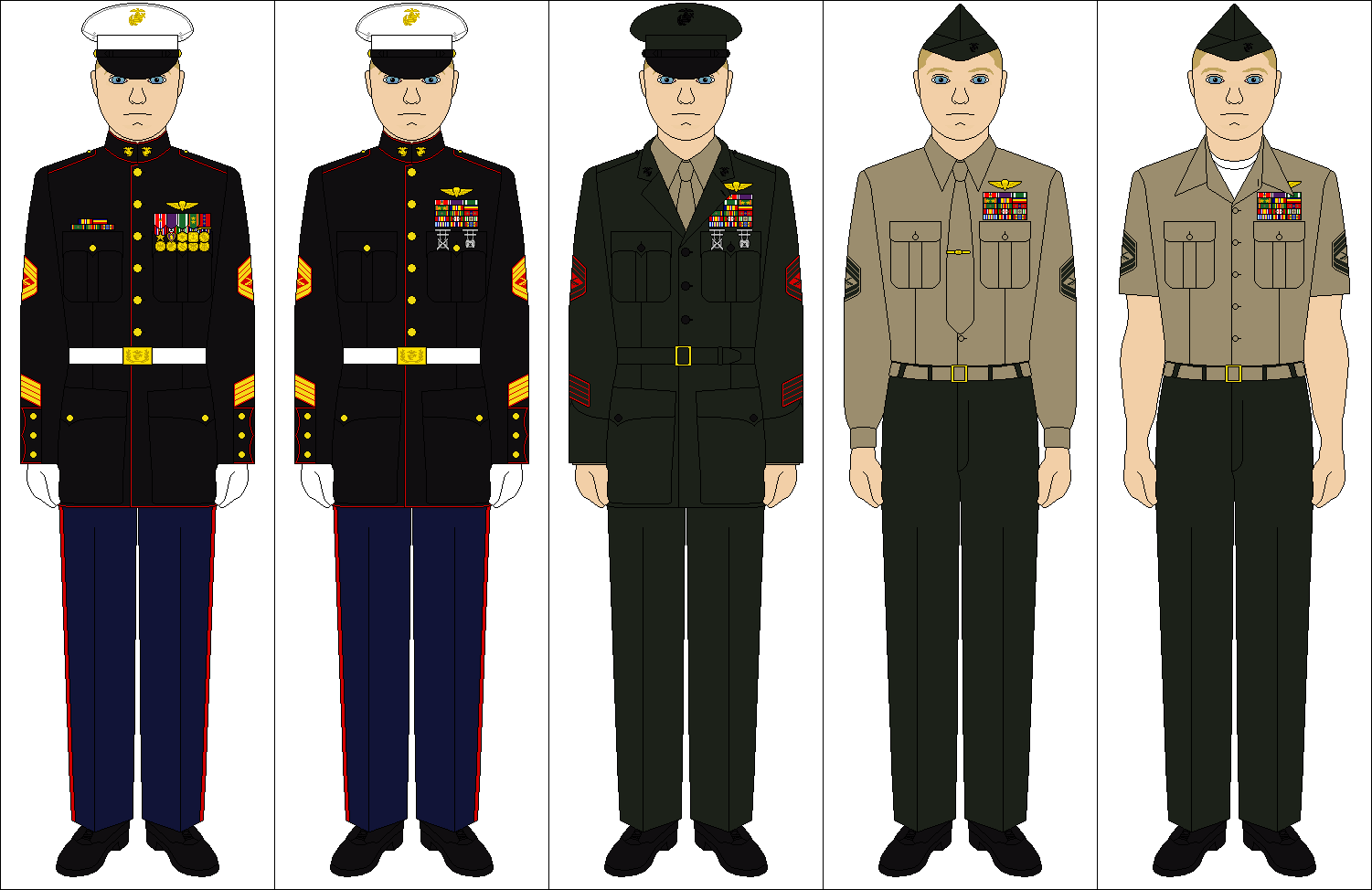 US Marine Corps uniforms by Tenue-de-canada on DeviantArt