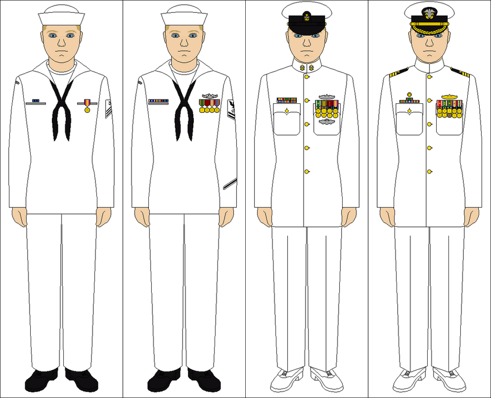 Navy Uniform Dress Whites 89