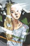 Nov 20 13 Girl through glass by scarletfame