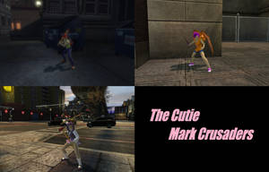 The Cutie Mark Crusaders in DC Universe Online by Shritistrang