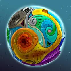 Mandala Planet by Ayorius