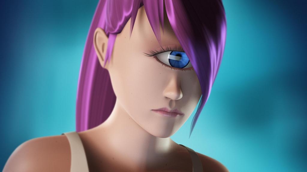 Leela 3D - Futurama by GlassGuise