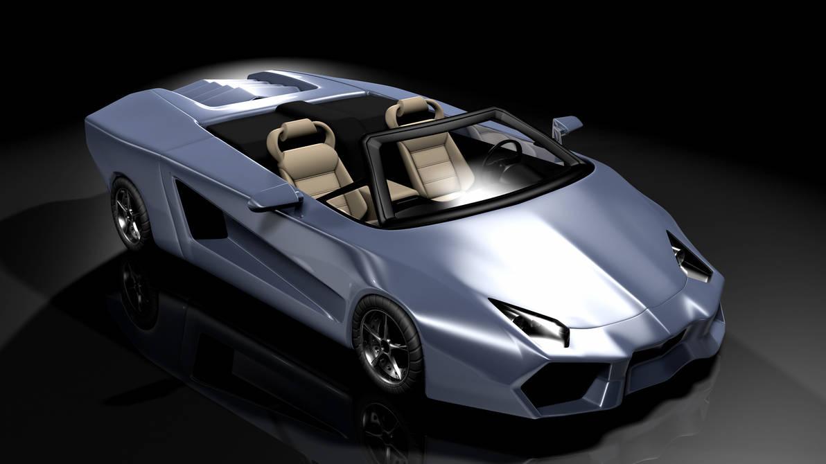 3D Lamborghini by GlassGuise