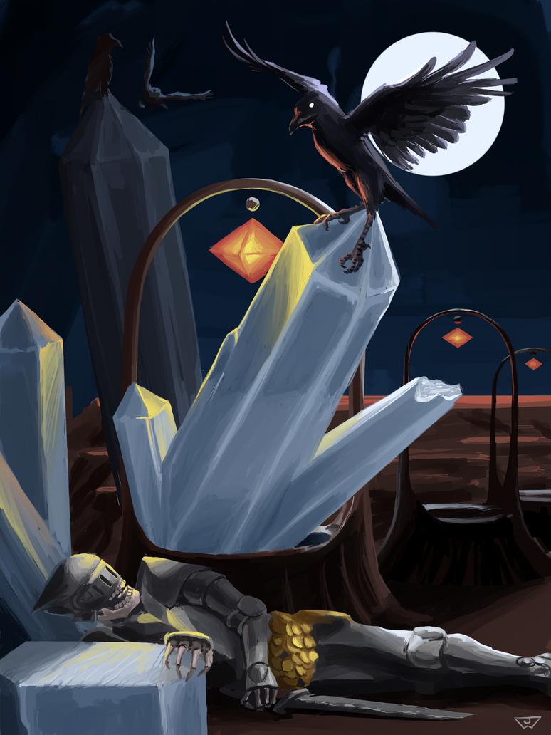 Crystal Crow 051216 by pencilcasserole