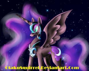 Nightmare Moon Ver.2 WIP by OtakuSquirrel