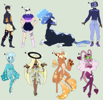 [OPEN 5/8] Galactic gal collab adopts by Tigerboi-Adopts