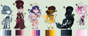 [OPEN 2/6] Color palette gals by Tigerboi-Adopts