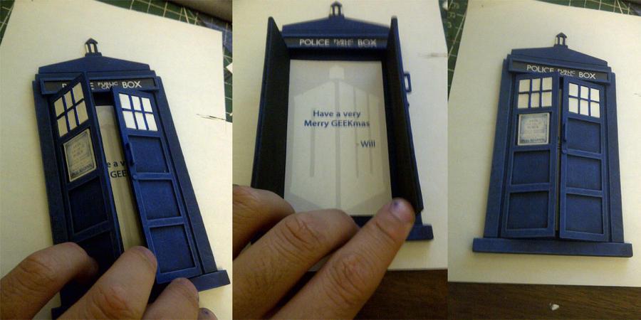 TARDIS Christmas Card by Waileem on DeviantArt